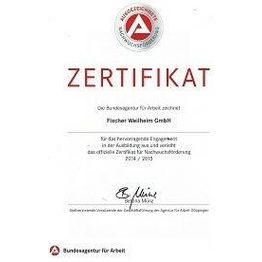 Corporation award zertifikat1