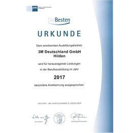 Corporation award urkunde hilden