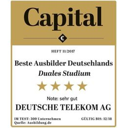 Corporation award cap 1117 beste ausbilder duales studium deutsche telekom