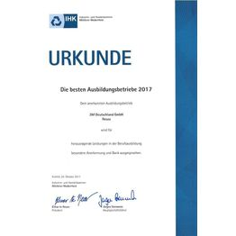 Corporation award urkunde neuss